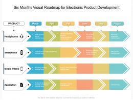 Six Months Visual Roadmap For Electronic Product Development