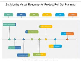 Six Months Visual Roadmap For Product Roll Out Planning