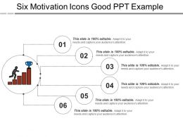 Six Motivation Icons Good Ppt Example