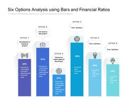 Six Options Analysis Using Bars And Financial Ratios
