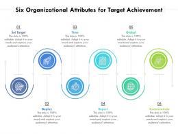 Six Organizational Attributes For Target Achievement