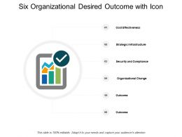 Six Organizational Desired Outcome With Icon