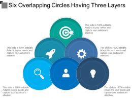 Six Overlapping Circles Having Three Layers
