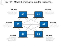 Six P2p Model Lending Computer Business Illustration Isometric Start Network