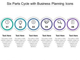 Six Parts Cycle With Business Planning Icons