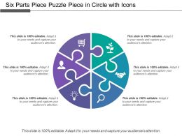 Six Parts Piece Puzzle Piece In Circle With Icons
