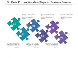 Six Parts Puzzles Workflow Steps For Business Solution