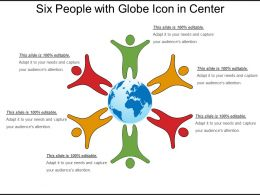 Six People With Globe Icon In Center