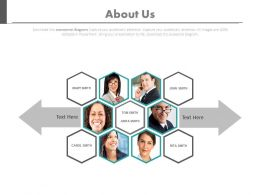 Six Peoples For Business About Us Page Powerpoint Slides