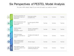 Six Perspectives Of PESTEL Model Analysis