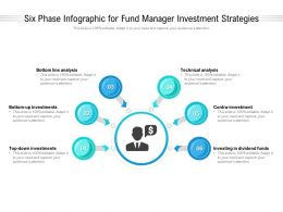 Six Phase Infographic For Fund Manager Investment Strategies