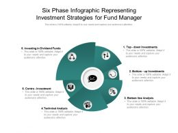 Six Phase Infographic Representing Investment Strategies For Fund Manager