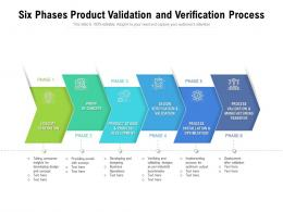 Six Phases Product Validation And Verification Process