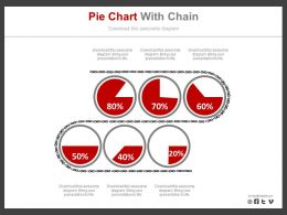 Six Pie Charts And Percentage Analysis Powerpoint Slides