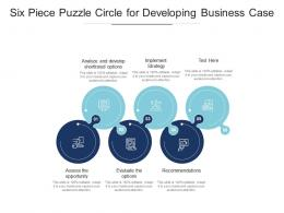 Six Piece Puzzle Circle For Developing Business Case
