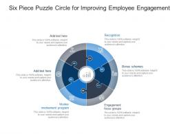 Six Piece Puzzle Circle For Improving Employee Engagement