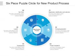 Six Piece Puzzle Circle For New Product Process