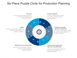 Six Piece Puzzle Circle For Production Planning