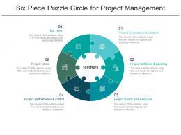 Six Piece Puzzle Circle For Project Management