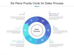 Six Piece Puzzle Circle For Sales Process