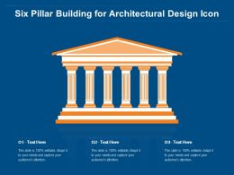 Six Pillar Building For Architectural Design Icon