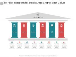 Six Pillar Diagram For Stocks And Shares Best Value Infographic Template