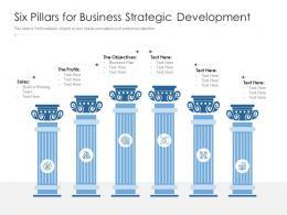 Six Pillars For Business Strategic Development
