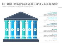 Six Pillars For Business Success And Development