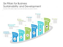 Six Pillars For Business Sustainability And Development
