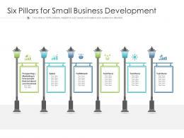 Six Pillars For Small Business Development