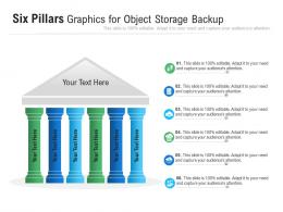 Six Pillars Graphics For Object Storage Backup Infographic Template