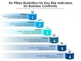 Six Pillars Illustration For Key Risk Indicators For Business Continuity Infographic Template