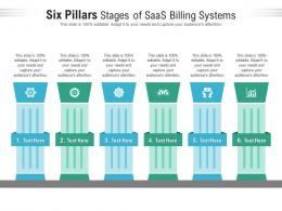 Six Pillars Stages Of Saas Billing Systems Infographic Template