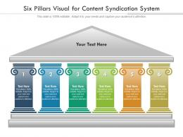 Six Pillars Visual For Content Syndication System Infographic Template