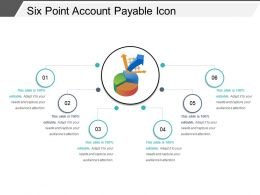 Six Point Account Payable Icon Ppt Sample Download