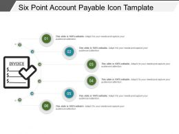 six_point_account_payable_icon_tamplate_ppt_images_gallery_Slide01