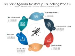 Six Point Agenda For Startup Launching Process