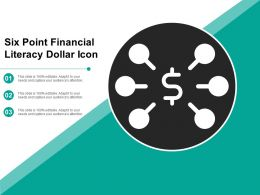 Six Point Financial Literacy Dollar Icon
