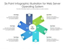 Six Point Illustration For Web Server Operating System Infographic Template