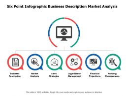 Six Point Infographic Business Description Market Analysis