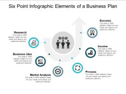 Six Point Infographic Elements Of A Business Plan