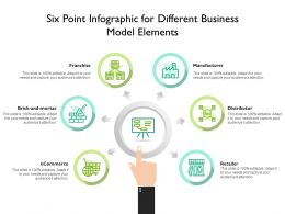 Six Point Infographic For Different Business Model Elements