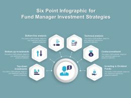 Six Point Infographic For Fund Manager Investment Strategies