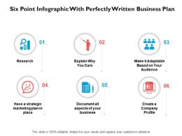 Six Point Infographic With Perfectly Written Business Plan