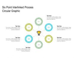 Six Point Interlinked Process Circular Graphic