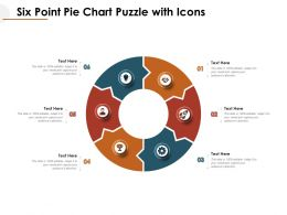 Six Point Pie Chart Puzzle With Icons