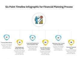 Six Point Timeline Infographic For Financial Planning Process