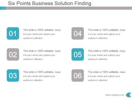 Six Points Business Solution Finding Powerpoint Template