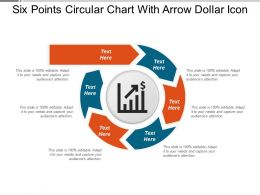 Six Points Circular Chart With Arrow Dollar Icon