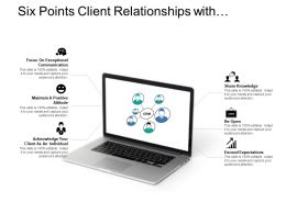 Six Points Client Relationships With Laptop Image